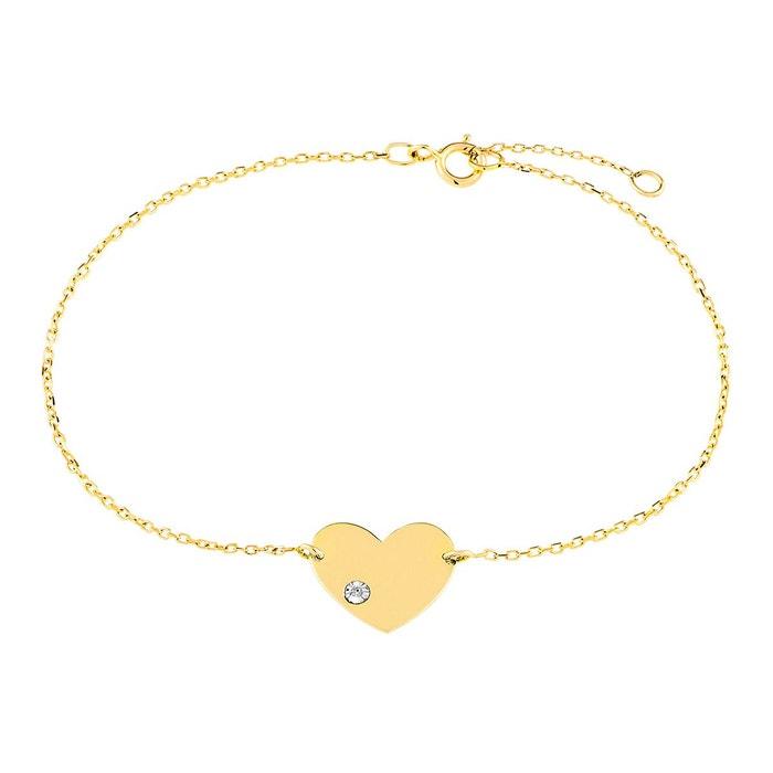 Bracelet en or 375/1000 jaune et diamant blanc Cleor | La Redoute Livraison Gratuite Trouver Une Grande Livraison Gratuite Dernier Prix Pas Cher Vue Rabais Pas Cher Confortable zjCqWatoOG