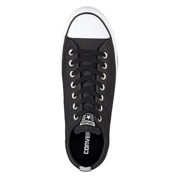 Baskets ctas ox cuir noir Converse