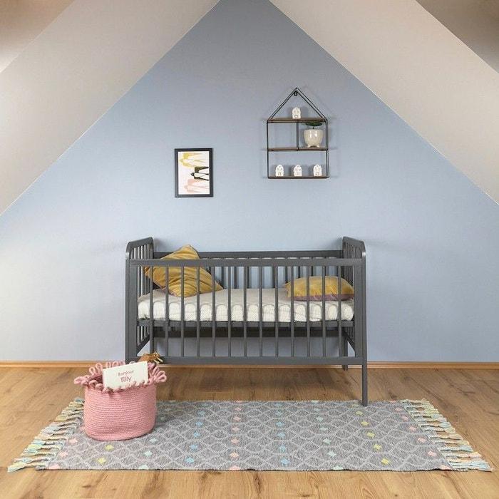 Dristy gris rectangle avec franges pour chambre bébé par nattiot ...
