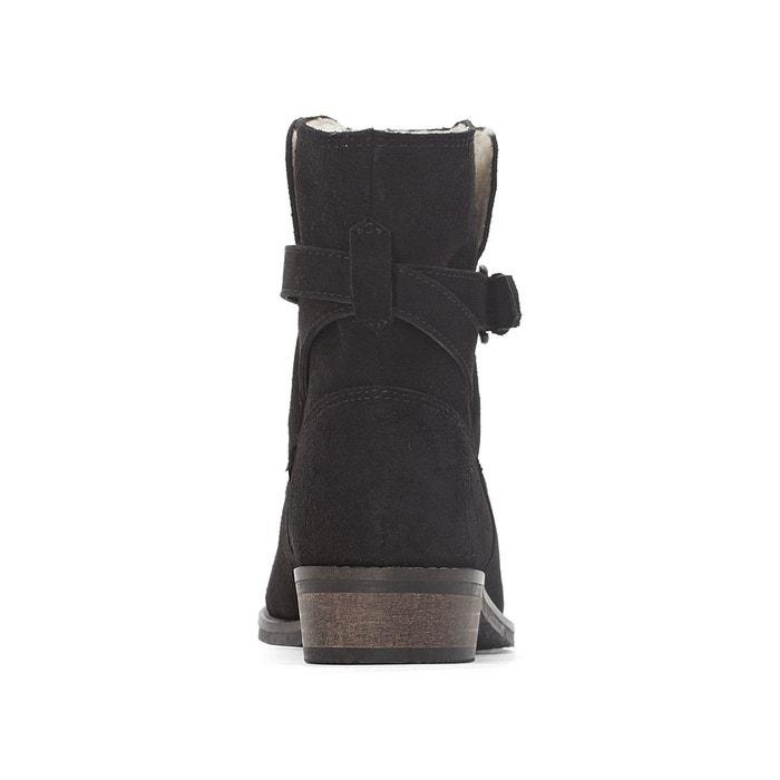 Boots fourrées cuir La Redoute Collections