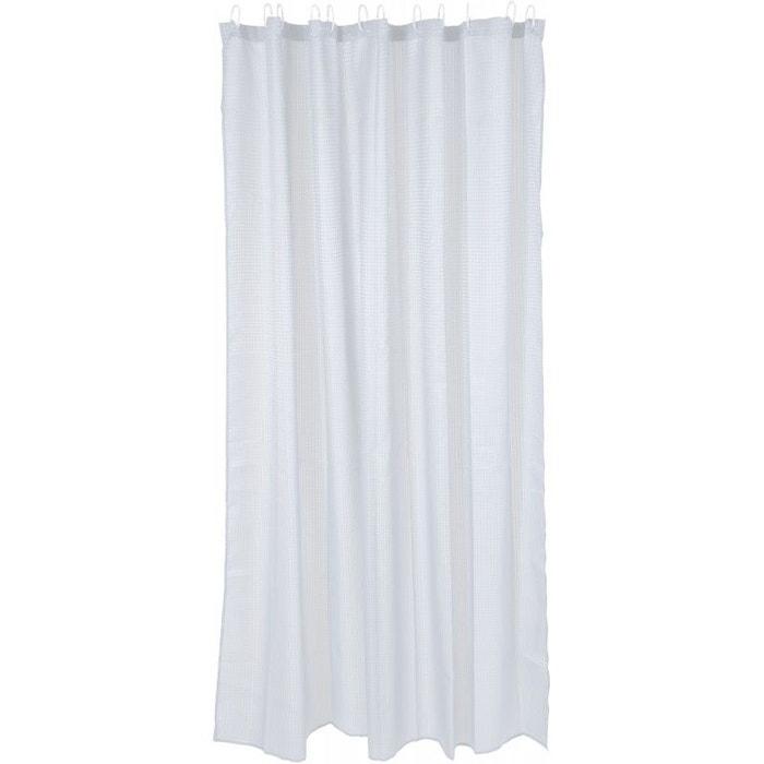 rideau de douche tissu polyester blanc 180x180cm v019839. Black Bedroom Furniture Sets. Home Design Ideas
