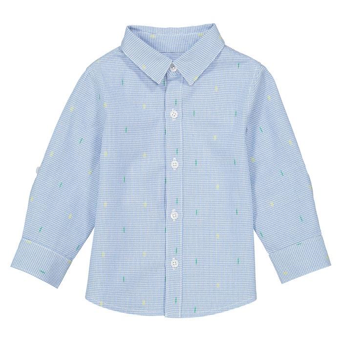 Camicia fantasia maniche lunghe - 1 mese - 3 anni  La Redoute Collections image 0