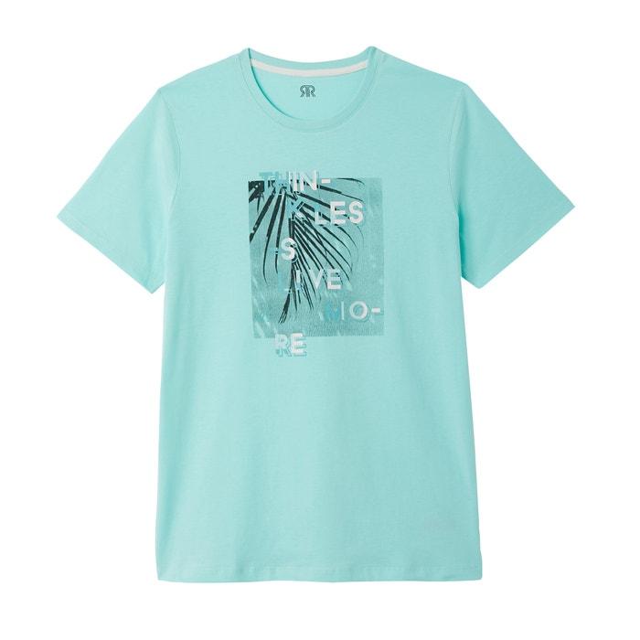 de con Redoute redondo delante cuello Collections Camiseta La motivo qfctav