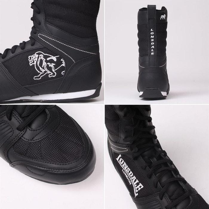 Boxing bottes chaussures noir/blanc Lonsdale