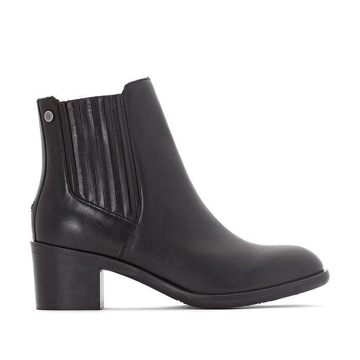 boots cuir parson tommy hilfiger la redoute. Black Bedroom Furniture Sets. Home Design Ideas