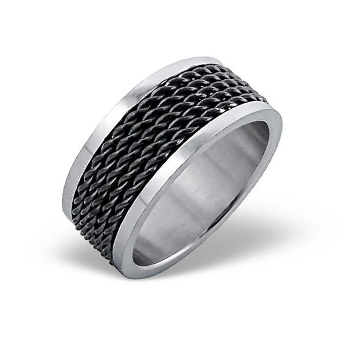 Bague homme anneau câbles noir acier inoxydable couleur unique So Chic Bijoux | La Redoute Vente Excellente lrnXYmk