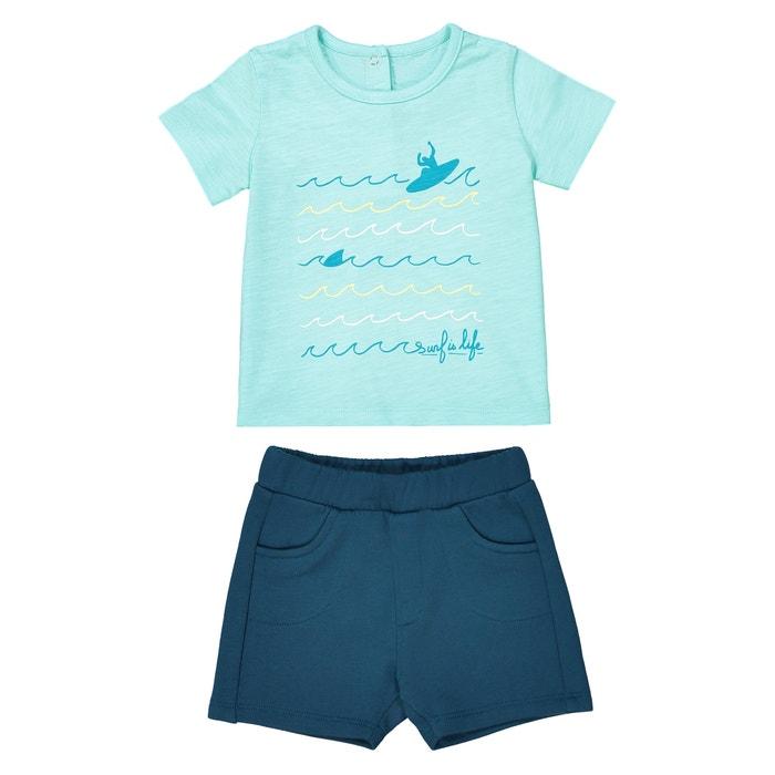 Completo bebé T-shirt e shorts da 1 mese a 3 anni  La Redoute Collections image 0