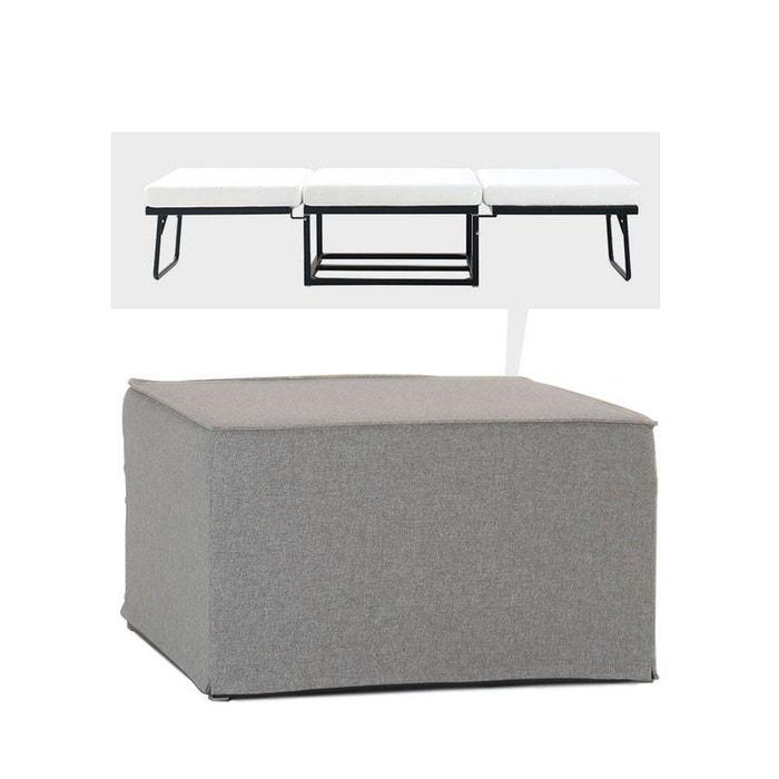 pouf convertible lit tissu jazz drawer la redoute. Black Bedroom Furniture Sets. Home Design Ideas