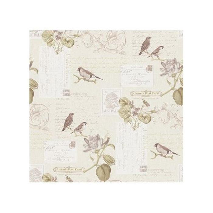 papier peint carte postale oiseaux en s pia home maison la redoute. Black Bedroom Furniture Sets. Home Design Ideas