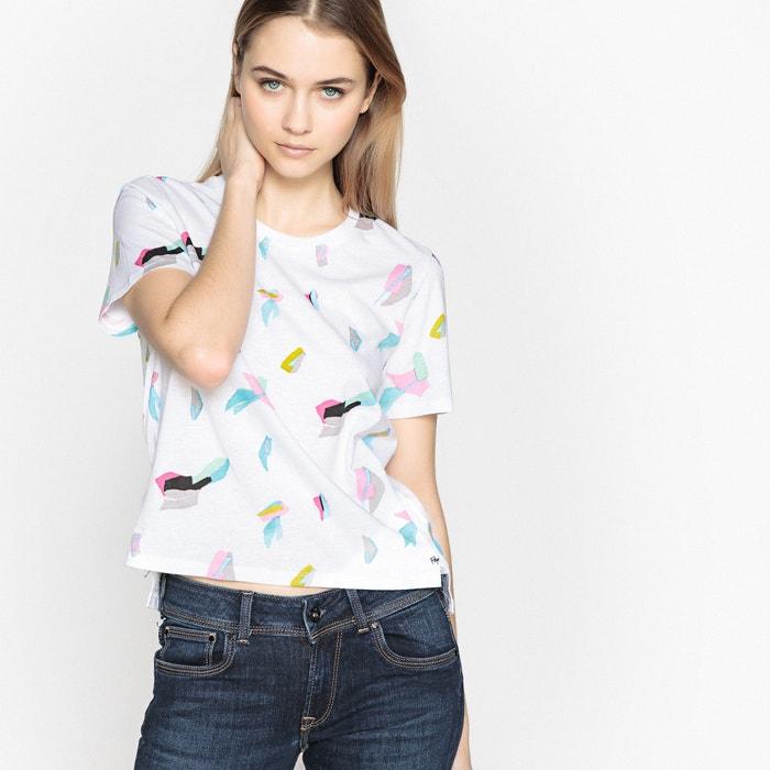 redondo estampada cuello con JEANS Camiseta PEPE q4wnIxUBx
