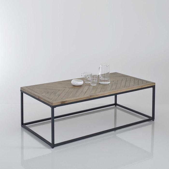Nottingham parquet top coffee table polished pine la for Table ronde la redoute