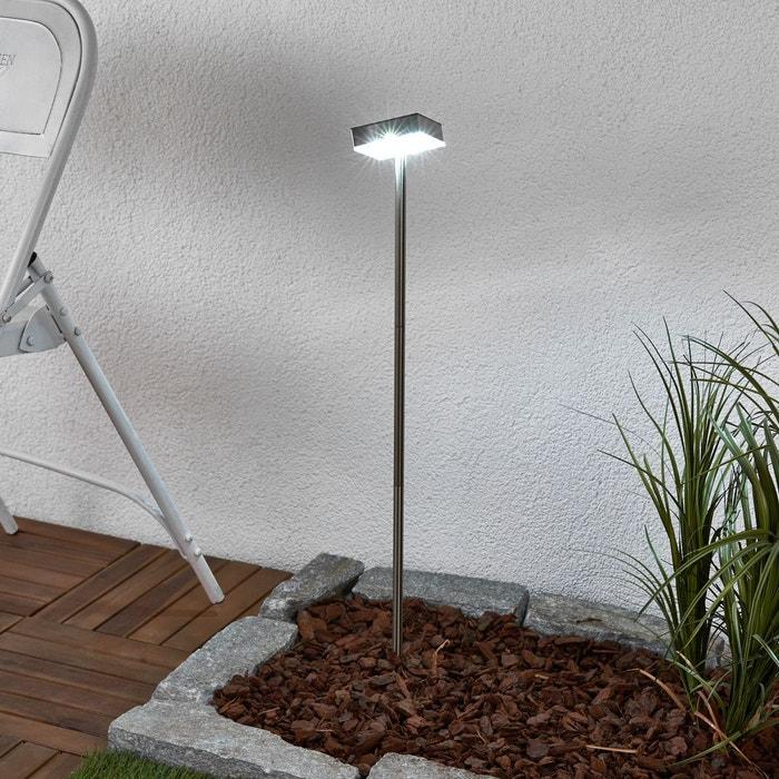 borne lumineuse solaire kasimir avec led inox lampenwelt la redoute. Black Bedroom Furniture Sets. Home Design Ideas