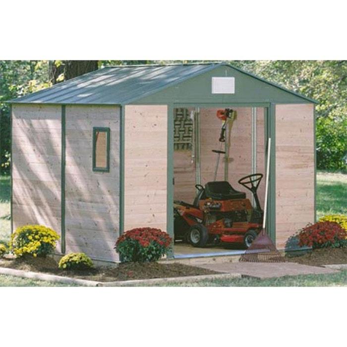 abri de jardin m tal et bois c dre 12 mm 7 60 m bois clair chalet et jardin la redoute. Black Bedroom Furniture Sets. Home Design Ideas