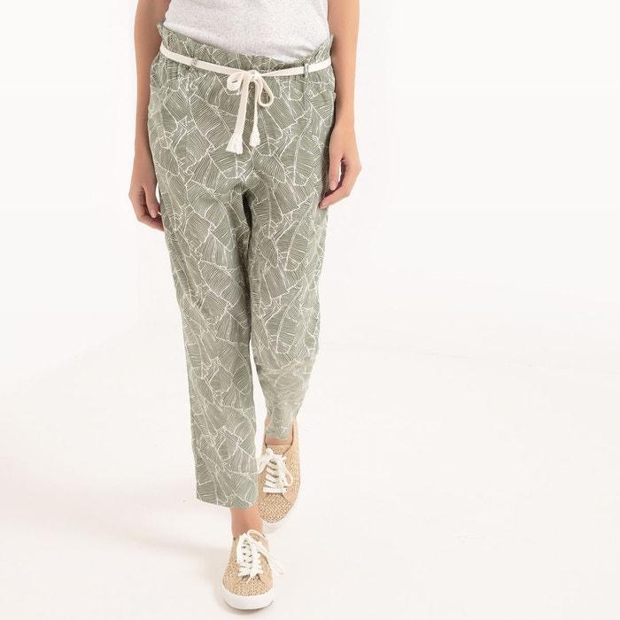 Pantalon fluide imprim kaki clair le temps des cerises - Pantalon treillis femme le temps des cerises ...
