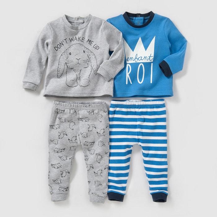 Image Pyjama coton 0 mois-3 ans (lot de 2) La Redoute Collections
