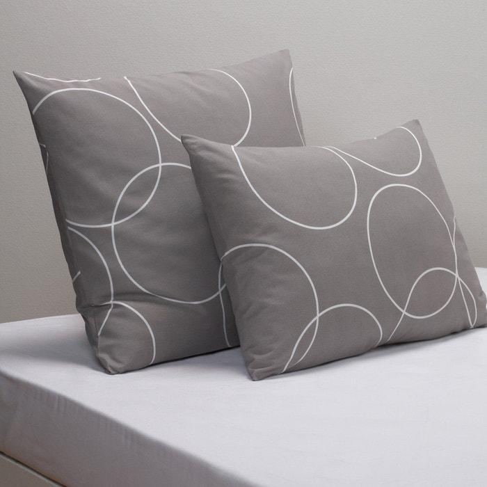 taie d 39 oreiller imprim e circle la redoute interieurs la redoute. Black Bedroom Furniture Sets. Home Design Ideas