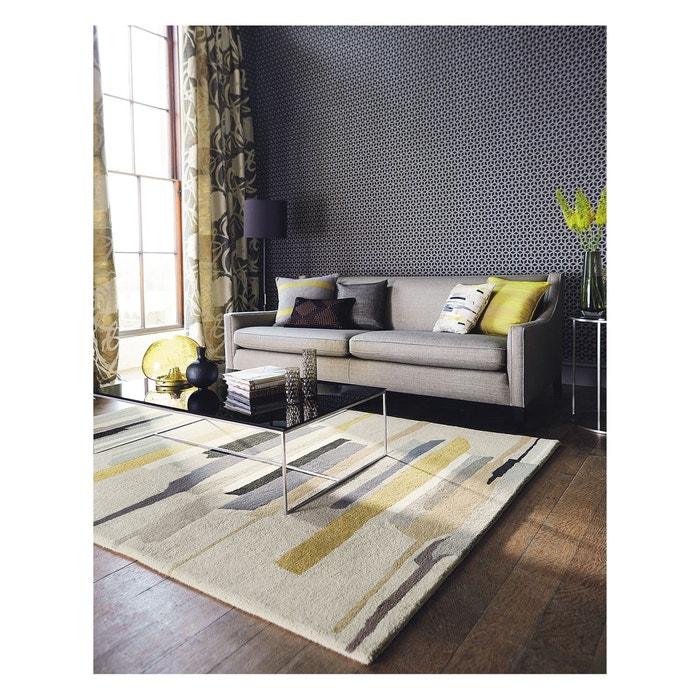 Tapis de salon tapis moderne design zeal laine gris Tapis de salon moderne