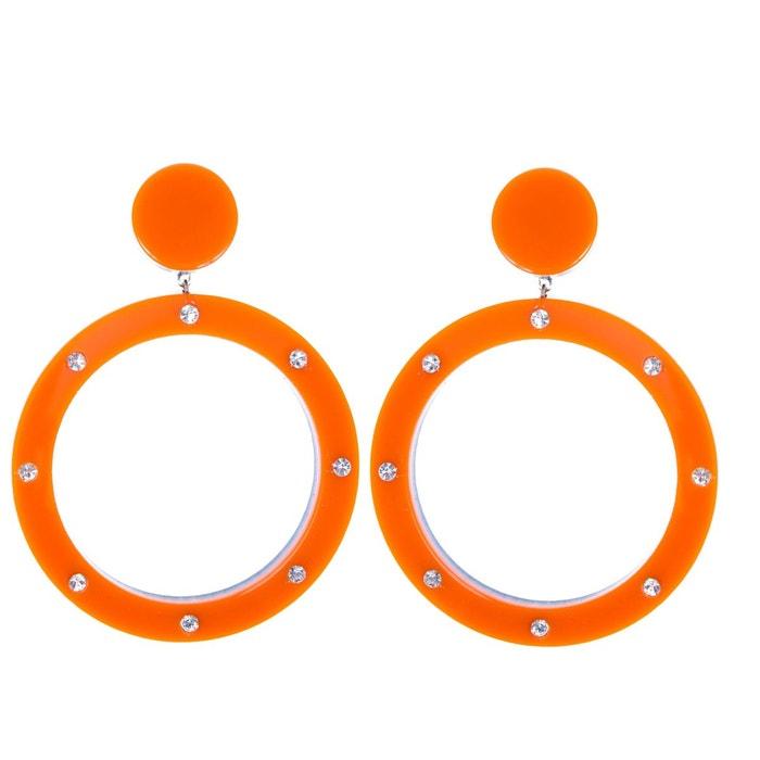 Boucles d'oreilles randie orange strass couleur unique Reine Rosalie   La Redoute Originale Pas Cher En Ligne Énorme Surprise xKg0hSm