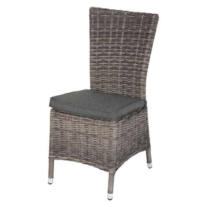 Chaise de jardin en résine tressée moorea Hesperide | La Redoute