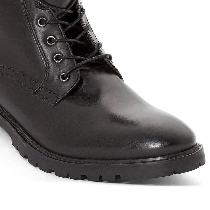 Boots cuir york noir Base London