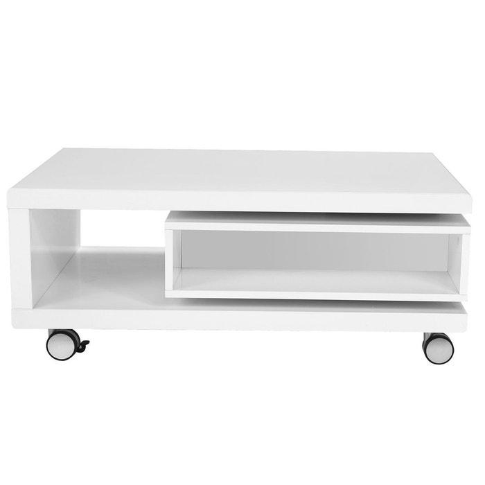 Table Basse Design Laquée Blanche Livo Blanc Et Noir Miliboo La