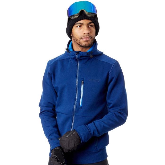 f2a7db73546b54 Sweat à capuche zippé snowboard scuba bleu fonce Oakley   La Redoute