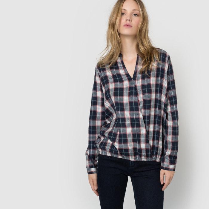 afbeelding Geruite blouse met wikkel spirit La Redoute Collections