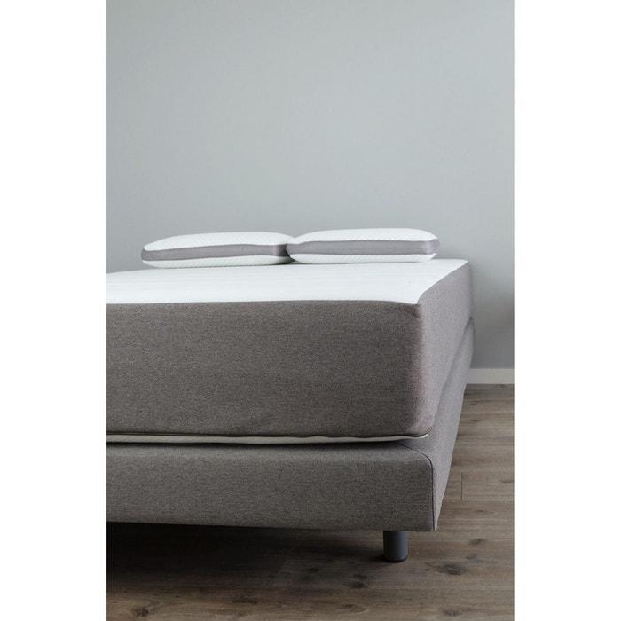 sommier tapissier 140x190 avec pieds gris kadolis la redoute. Black Bedroom Furniture Sets. Home Design Ideas