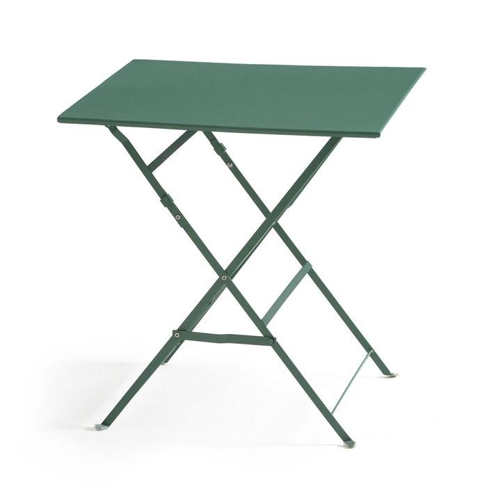 Table pliante carrée, métal Ozevan