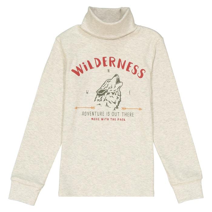 """Пуловер тонкий с рисунком """"волк"""", 3-12 лет  La Redoute Collections image 0"""