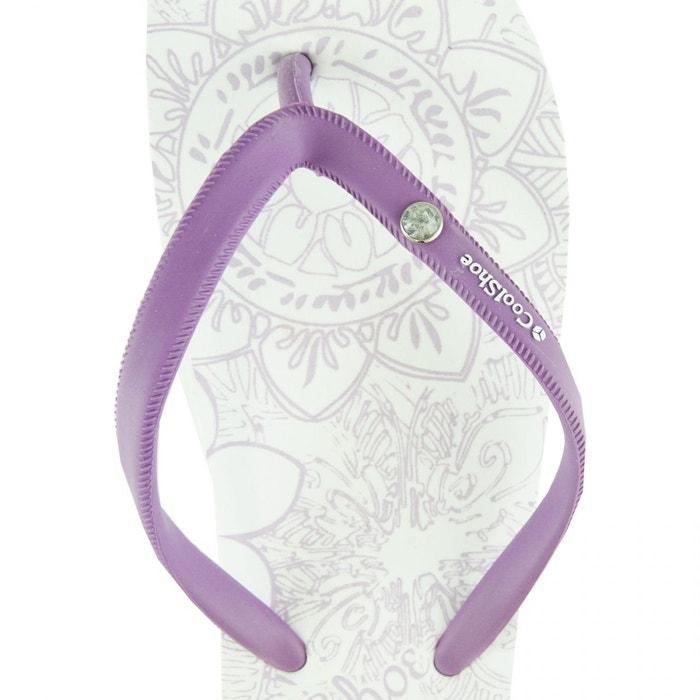 Tongs pour femmes henna 002 white blanc Cool Shoe
