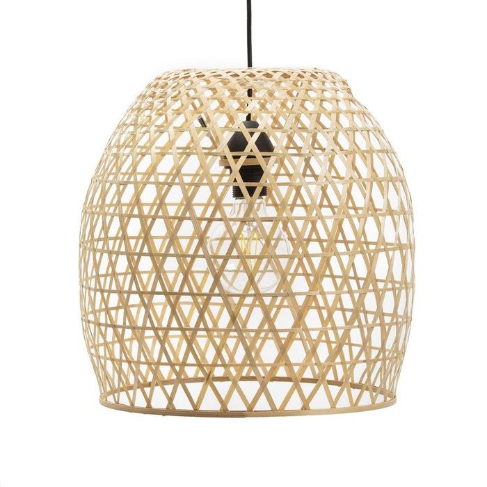 suspension bambou h38 cm teyda naturel la redoute. Black Bedroom Furniture Sets. Home Design Ideas