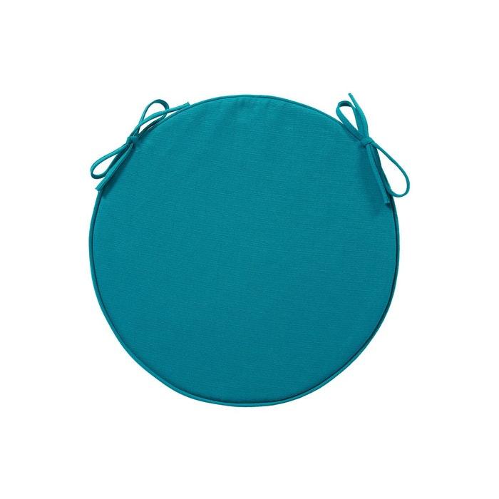 Galette de chaise ronde diam 42 cm lagon bleu hesperide la redoute - Galette de chaise ronde bleu ...
