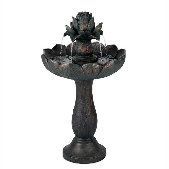 Blumfeldt Rose Bell Fontaine De Jardin Polyresine Pompe 6w Design Aspect Pierre