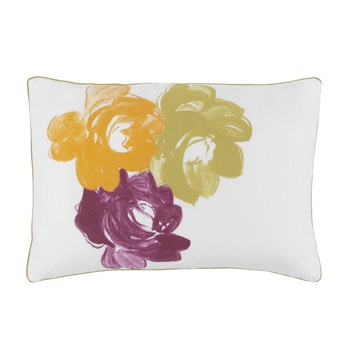 taie d 39 oreiller imprim e en satin de coton po me multicolore essix la redoute. Black Bedroom Furniture Sets. Home Design Ideas