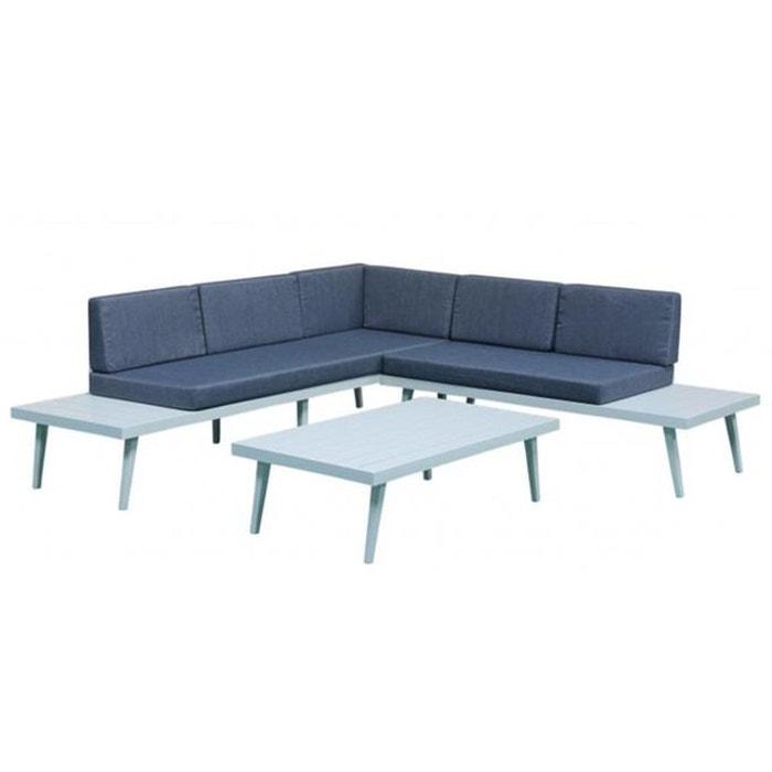 Salon de jardin détente en aluminium smart bleu Delorm | La Redoute