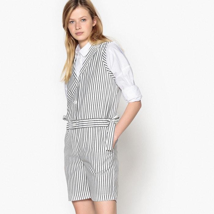 654b42ea964 Sleeveless striped playsuit