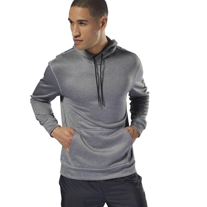 4df2bb66f950 Sweat-shirt à capuche molletonné workout ready poly gris Reebok Sport | La  Redoute