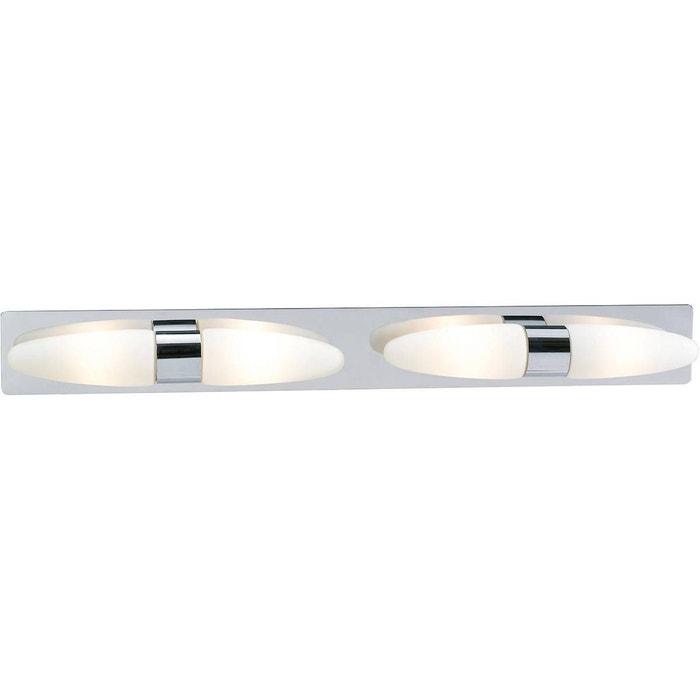 Applique salle de bain led buffy blanche en métal blanc Keria | La ...