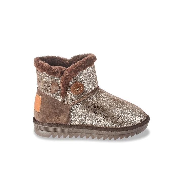 boots cuir fourr es jaipur bronze les tropeziennes par m belarbi la redoute. Black Bedroom Furniture Sets. Home Design Ideas