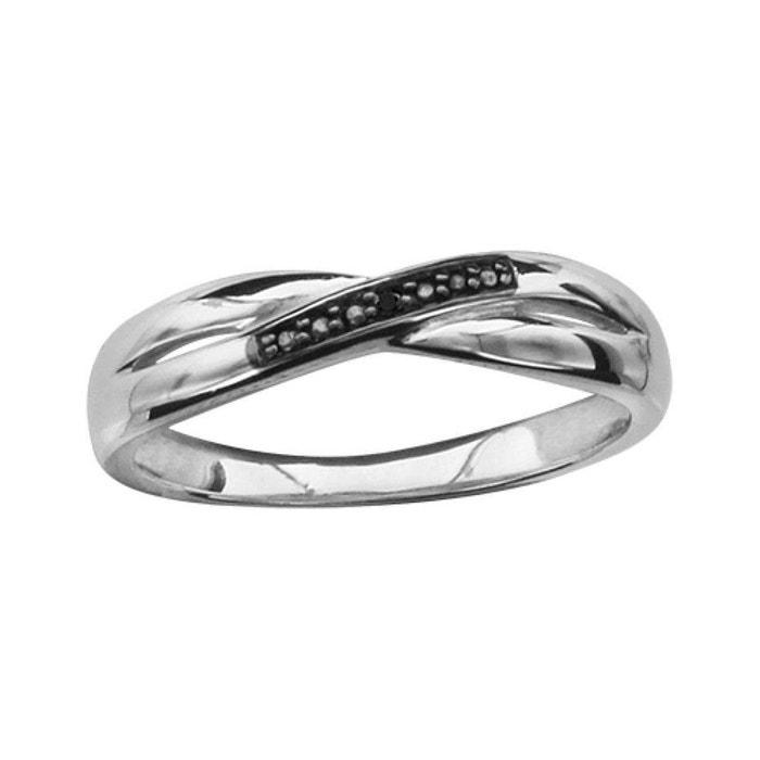 Bague femme anneau croisé oxyde de zirconium noir argent 925 couleur unique So Chic Bijoux | La Redoute Vente Classique En Ligne Vente De Nombreux Types De x33ihdbzY