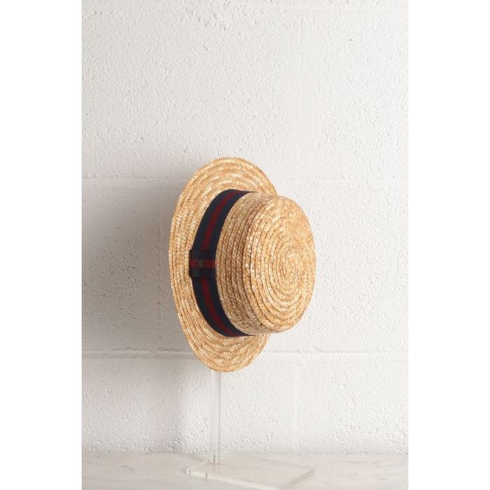 Chapeau canotier  bandes colorées homme  BONOBO (1)