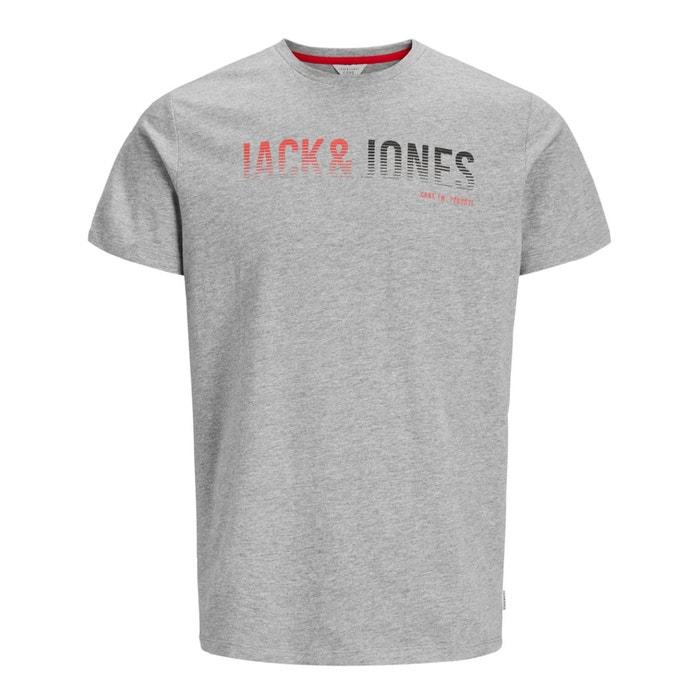 JONES motivo Jcolinn amp; cuello con redondo Camiseta JACK delante y qB0x56zBw