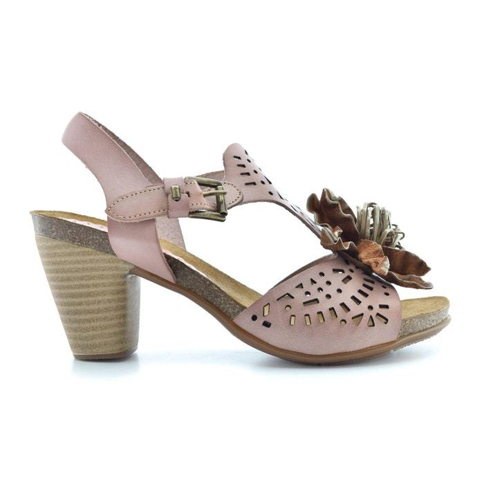 Mabel High Heeled Leather Sandals  BUNKER image 0