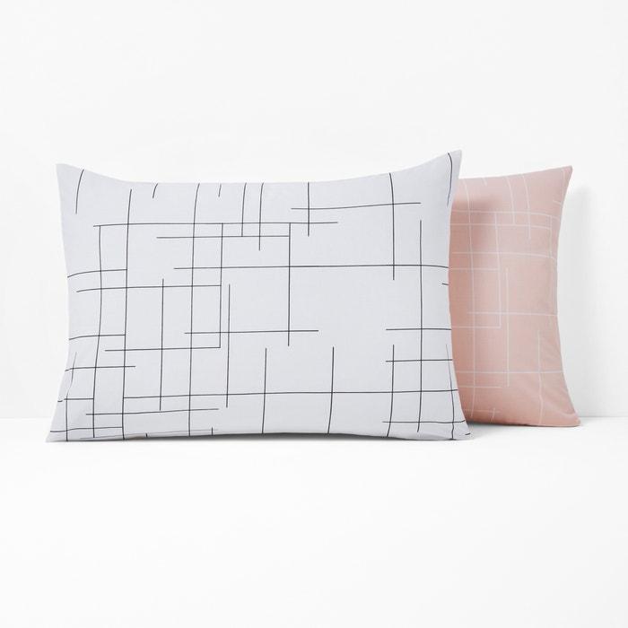 CHARLINE Graphic Print Reversible Cotton Pillowcase  La Redoute Interieurs image 0