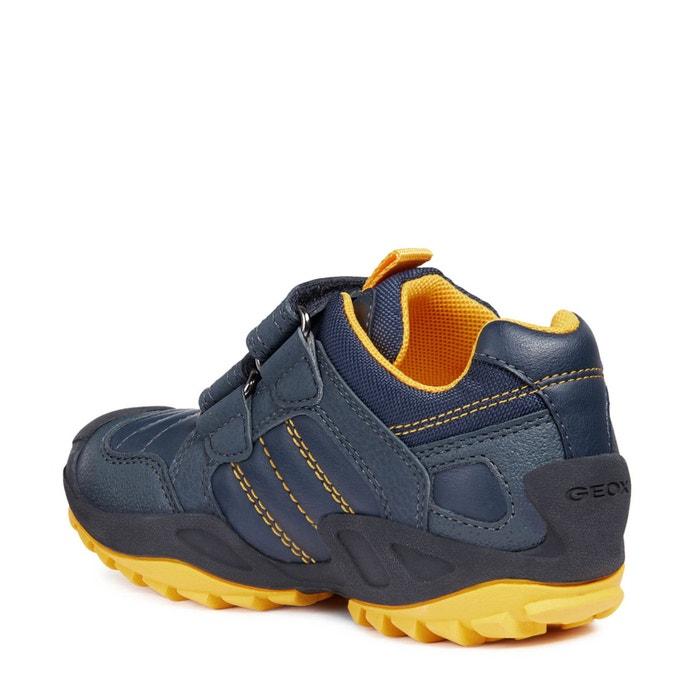 fcba74edc Zapatillas con cierre autoadherente j new savage boy azul marino amarillo  Geox