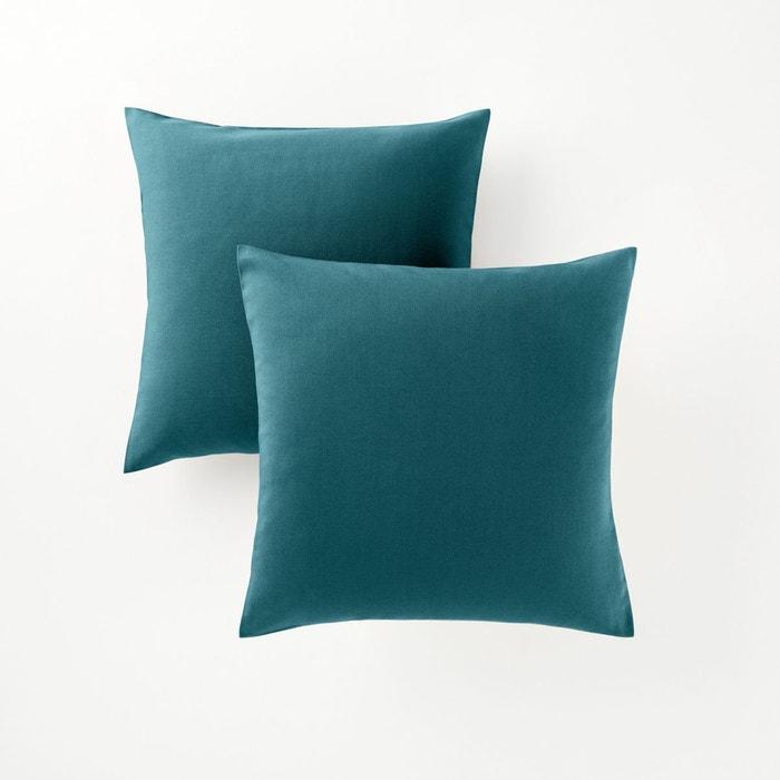Housse Coussin Bleu Canard Remc Homes