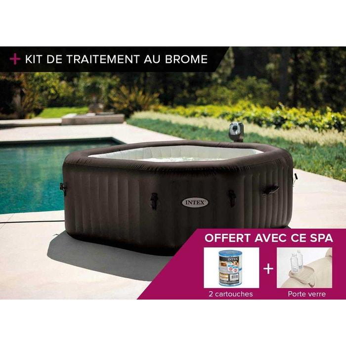 spa gonflable intex purespa octogonal jets 6 pl kit brome couleur unique intex la redoute. Black Bedroom Furniture Sets. Home Design Ideas