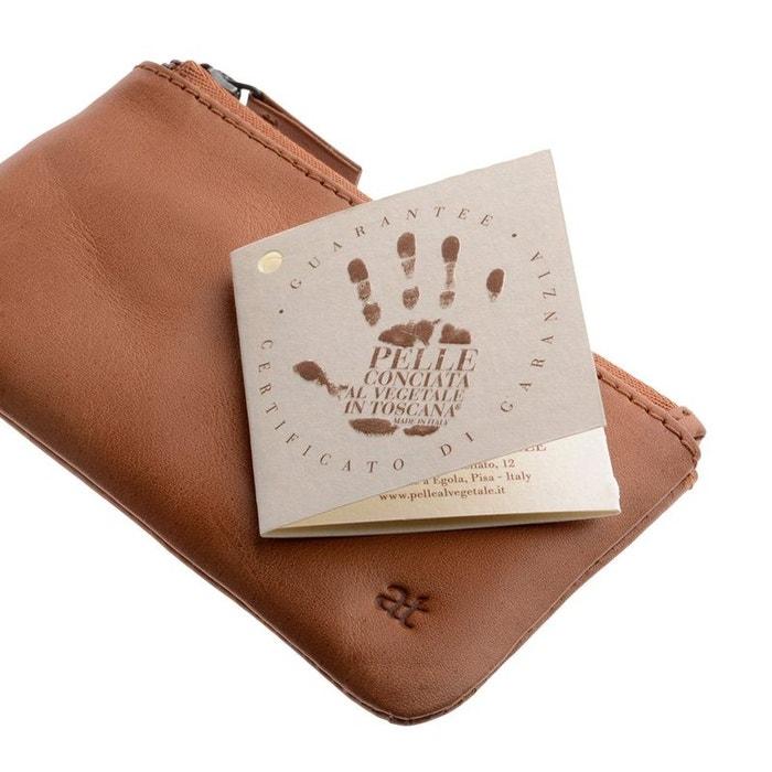 50924831ca4 Antica toscana porte-clés pour homme en cuir véritable etui pochette avec  fermeture éclair et 1 anneau pour les clés Antica Toscana