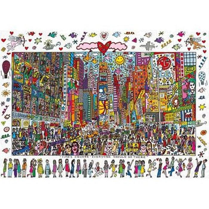 Puzzle 1000 pièces - James Rizzi - Times Square : Tout le monde devrait y aller RAVENSBURGER